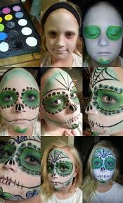 sugar skull makeup by mesha sanchez step by step how to using mehron professional face paints