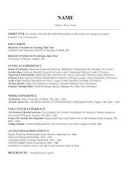 example of best resume resume template for nursing student school sample information