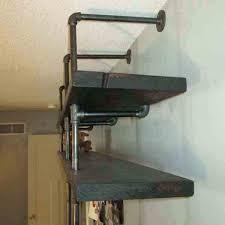 shelf u everyday black pipe shelves industrial diy metal shelving unit glorious rustic wall