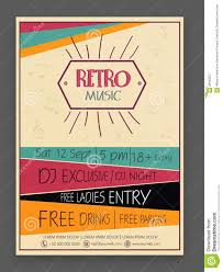 Retro Flyer Templates vintage flyer template Besikeighty24co 1