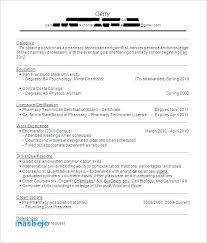 Pharmacy Technician Resume Objective New Example Of Pharmacy Technician Resume Pharmacy Tech At Cvs Resume