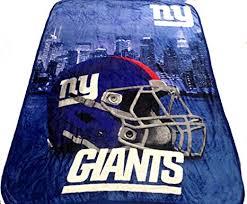 Silk amp; 60x80 Giants com New Nfl Throw Blanket York Ny Outdoors Feel Twin Sports Amazon