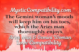 Inquisitive Aries Man And Gemini Woman Compatibility Chart