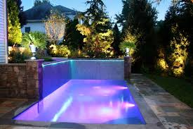 contemporary fiber optic rope lights landscape inground pool led and fiber optic lights installation paramus nj
