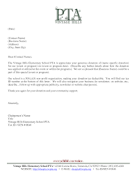 Free Sample Letter To Business Asking For Donation Download