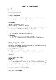 Resume Personal Statement Fascinating Opening Resume Statement Examples Personal Statement For Resume