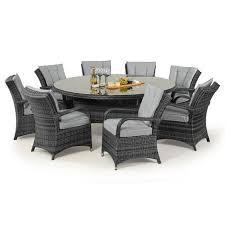 texas 8 seat rattan dining set