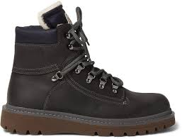 egide shearling lined leather hiking boots