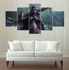 wow dame slyvanas toile peinture mur art 5 pi ces prints home