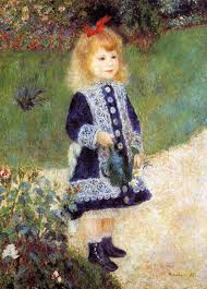 girl with a watering can 1876 pierre auguste renoir