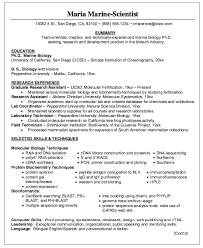 Biology Resume Sample | jennywashere.com