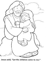 Jesus Loves The Little Children Coloring Page 2 Print Coloring
