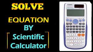 solve all equation on scientific calculator fx 991es plus