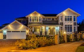 types of home lighting. Front Home At Night Types Of Lighting