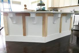 cabinet corbels inspirational how to add custom trim to a kitchen island diy