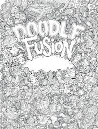 Coloring Page Binder Cover Doodle Invasion Coloring Pages Doodling Free Printable For Adults