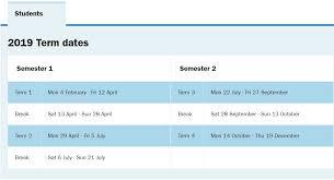 Term Dates | Rockinhgam Senior High School ESC