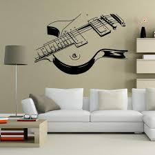 art guitar wall decal sticker decoration al instruments wall art mural stickers hanging poster graphic sticker art deco wall stickers art stickers for