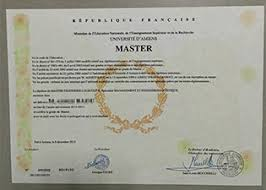 fake diploma buy fake degree fake transcript buy degrees   university of amiens degree sample from