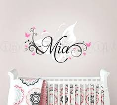 baby name wall art baby name wall decals for nursery butterfly and custom name wall decal baby name wall art  on personal wall art baby name with baby name wall art personalised wall art for the nursery playroom or
