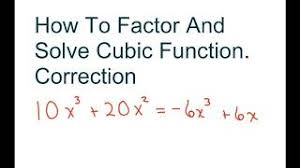 How To Factor A Cubic