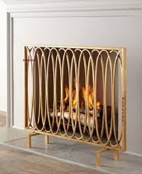 modern fireplace screens mid century modern fireplace tools glass screen fireplace
