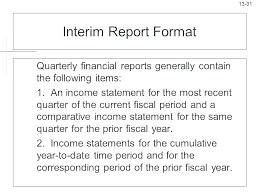Quarterly Report Formats Financial Quarterly Report Template