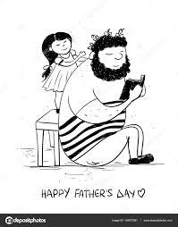 パパと遊ぶ娘と父の日カード ストックベクター Annykos 146973981