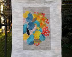modern wall hanging from marimekko fabric colorful contemporary fiber art quilt scandinavian abstract textile on fabric wall art nz with scandinavian fabric etsy nz