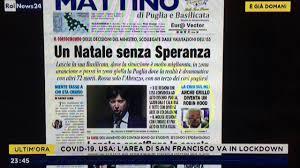 Col passaggio in zona gialla deciso dal ministro, la Puglia teme un Natale  senza Speranza - YouTube