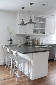 Dark Grey Kitchen Countertops Retro Table And Chairs Sink With