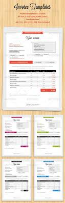 17 best images about invoicing how to design word professional invoice graphicriver item for