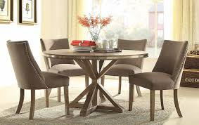 round dining table set for homelegance beaugrand brown 5177 54 decor 4