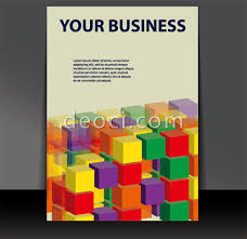 book cover template free 3d building blocks of book cover background design template eps cdr of