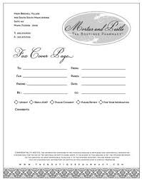 Fax Letter Head Office Fax Cover Sheet Template Mortar Pestle Boutique