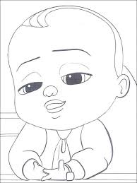 Boss Baby Coloring Pages 6 Easy To Draw In 2019 Boss Baby Baby