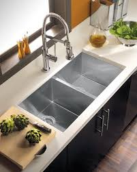 Stylish Deep Stainless Steel Double Kitchen Sink Alma 29 Inch Deep Bowl Kitchen Sink