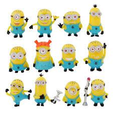 toy set 12pcs deable me 2 minion in action figures minions
