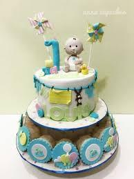 Baby Boy 1st Birthday Cake Cake By Annacupcakes Cakesdecor