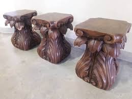 hand carved tree stump table