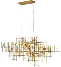 light inch er gold linear chandelier ceiling 10 brass lighting island