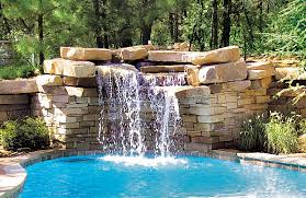 Exciting rock waterfall for inground pool moneybooksclub