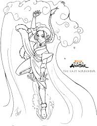 Small Picture AtLA Katara Coloring Page by DelusionalHell on deviantART