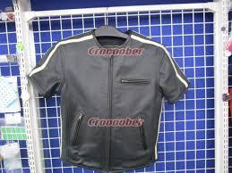 degner punching half leather jacket size m
