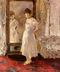 berthe morisot the psyche the cheval glass oil painting reion