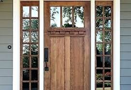 craftsman front door with tinted glass