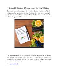 Custom Diet Solutions Offer Appropriate Diet For Weight Loss