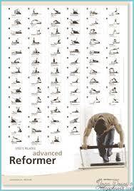 pilates reformer exercises chart