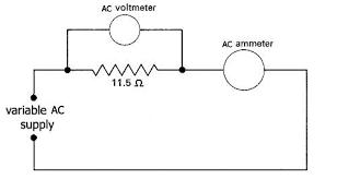 alternating current circuit. simple series circuit alternating current