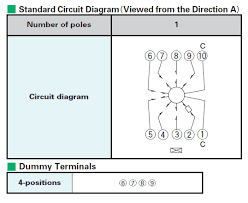 srbv series basic information circuit diagram and dummy terminals rotary switch